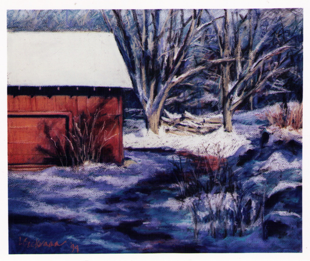 Linda Beckerman, Red Barn - Winter, 1993