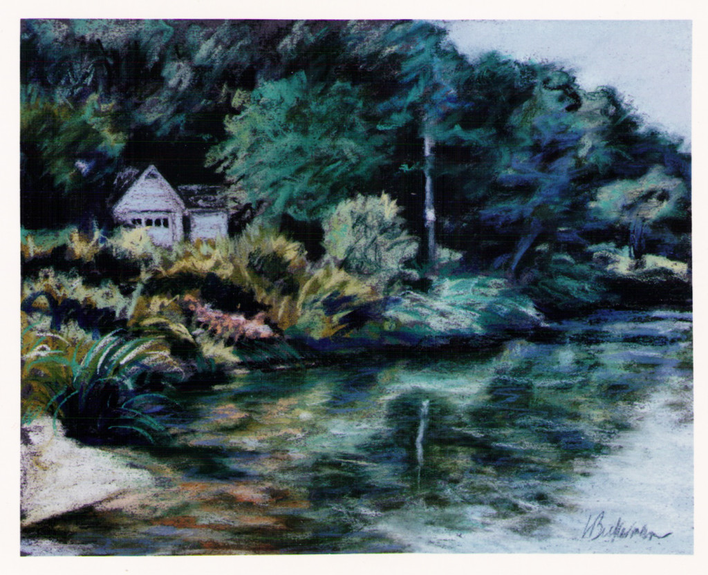 Linda Beckerman, Setauket Pond with House, 1993
