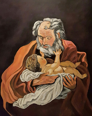 St Joseph and Baby Jesus